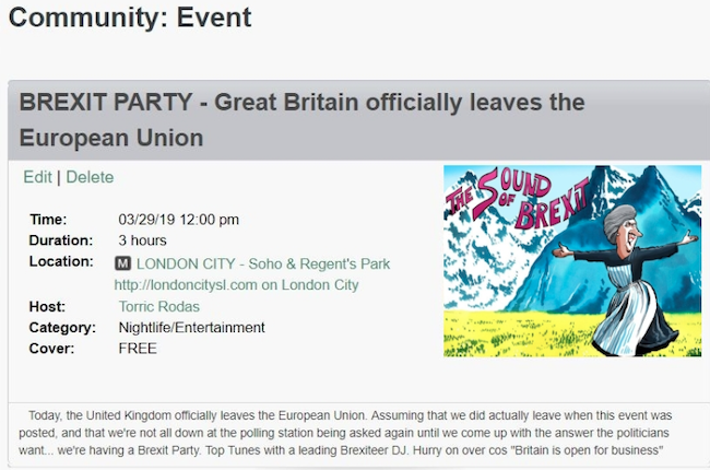 Second Life Brexit Party