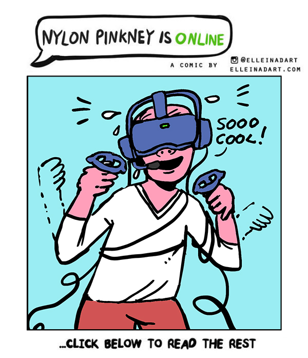 Nylon Pinkney Oculus Quest cord rift comic