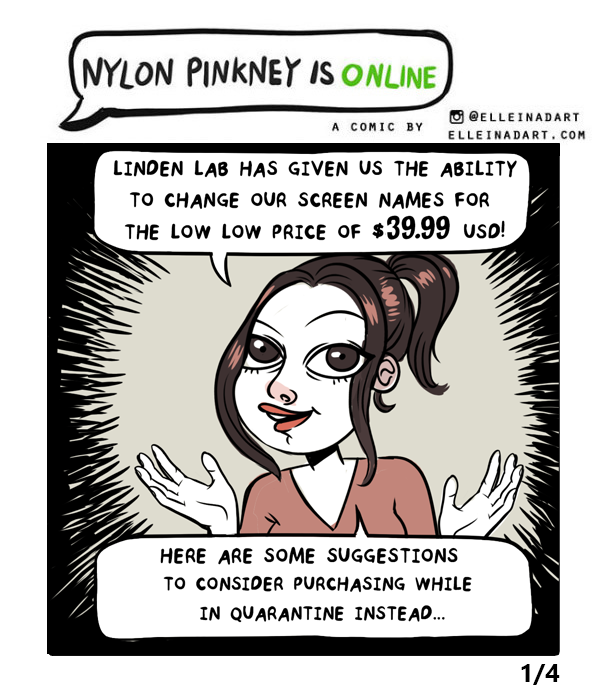 Quarantine Nylon SL names comic