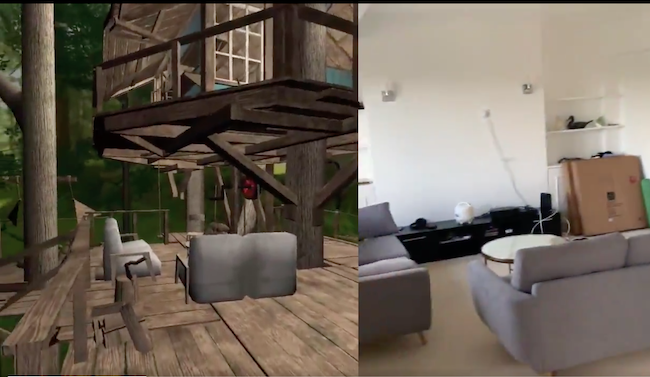 Oculus Quest VR mixed reality RL mapping