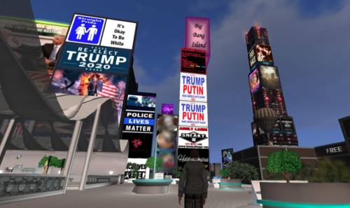 Second Life Political Billboards Trump
