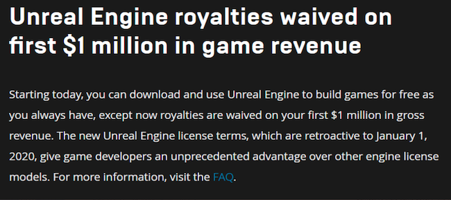 Unreal Engine 5 game revenue royalties change