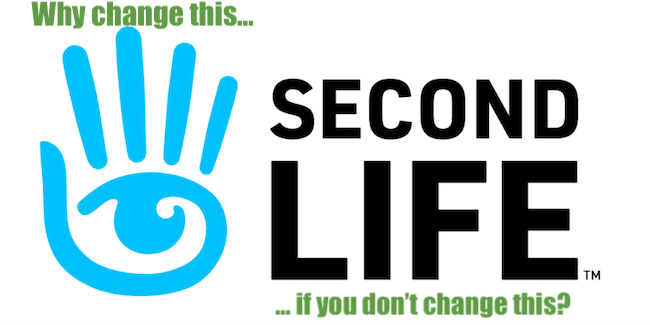 Second Life logo rebrand color Linden Lab