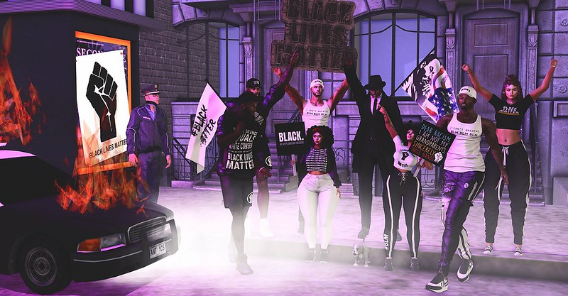 Black Lives Matter protest SL