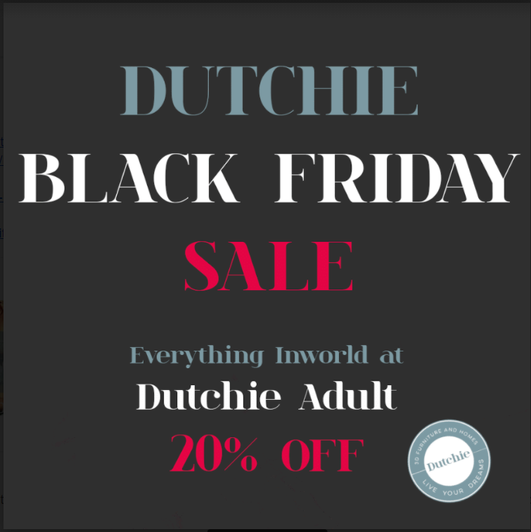 Dutchie Second Life Black Friday sales