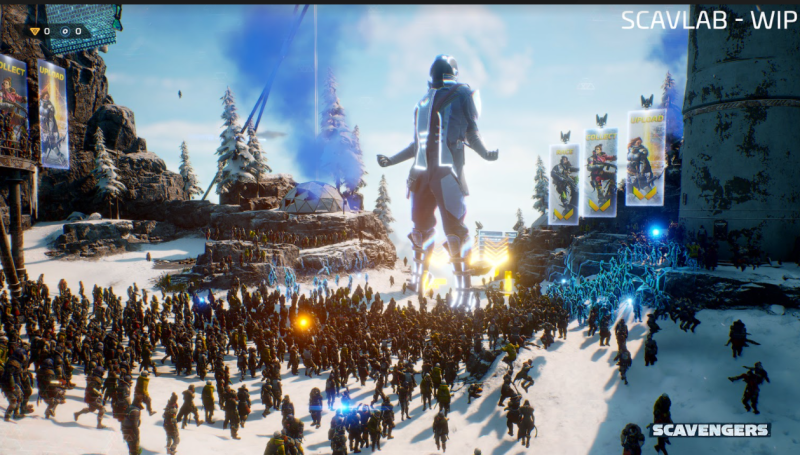 Scavengers MMO FPS Improbable concurrency