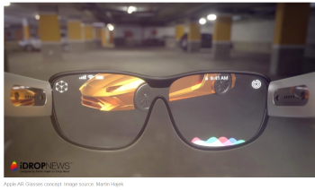 Apple AR glass prototype Martin Hajek