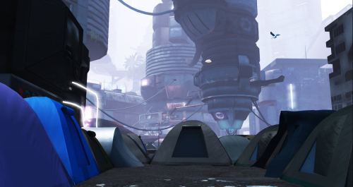 Hangars Liquides homeless camp SL