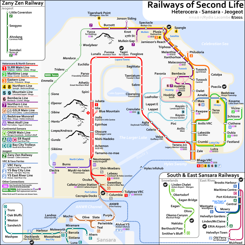 Second Life railway system