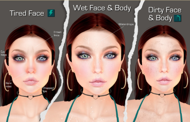 SL roleplay HUD Really Needy face changes