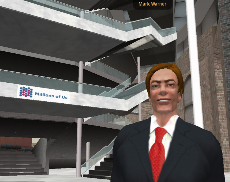 Former Gov. Mark Warner's Second Life Avatar